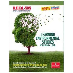 NIOS D.El.Ed-505 Learning Environmental Studies at primary level help book in English Medium