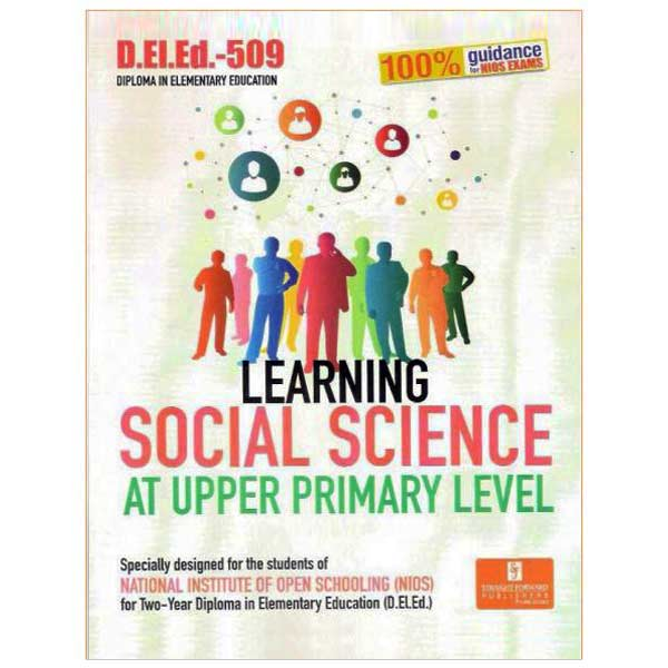 NIOS D.EL.ED- 509 Learning Social Science (Help Book) in English Medium