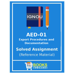 IGNOU AED 1 Solved Assignment in English Medium