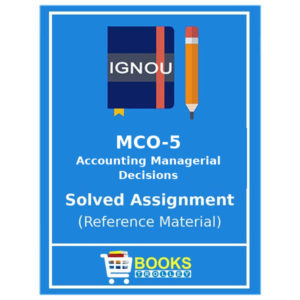 Ignou M.Com Solved Assignments