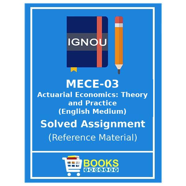 Ignou MA Economics Assignments