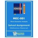 IGNOU MEC 1 Solved Assignment (Micro Economic Analysis)