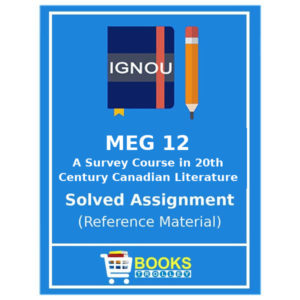 MEG 12 IGNOU Solved Assignment