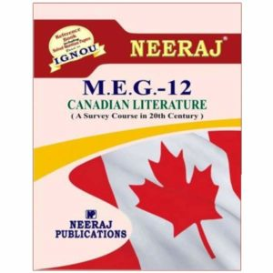 IGNOU MEG 12 Book (Canadian Literature)