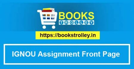 IGNOU Assignment Cover Page / Front Page