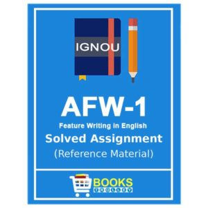 IGNOU AFW 1 Solved Assignment