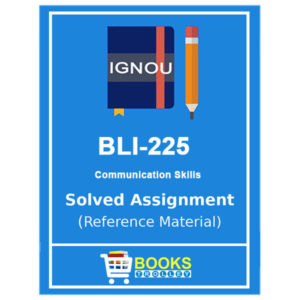 IGNOU BLI 225 Solved Assignment