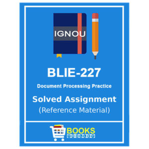 IGNOU BLIE 227 Solved Assignment