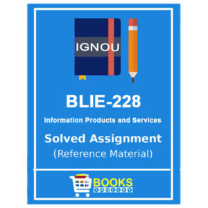 IGNOU BLIE 228 Solved Assignment