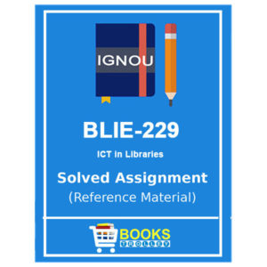 IGNOU BLI 229 Solved Assignment