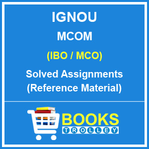 IGNOU MCOM Solved assignments in English Medium