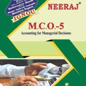 IGNOU MCO 5 Help book in English medium