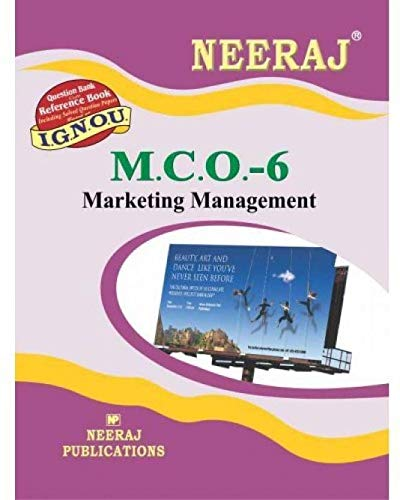 MCO-6 Marketing Management -English - (IGNOU Help Book For MCO-6 In English medium,MCOM IGNOU)