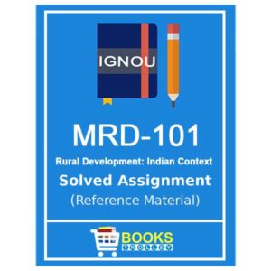 IGNOU MRD 101 Solved Assignment (PGDRD)