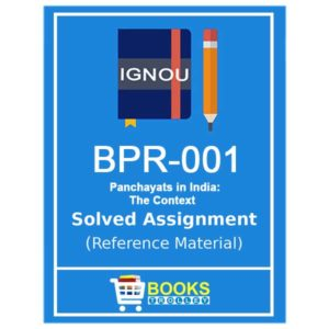 IGNOU BPR 1 Solved Assignment