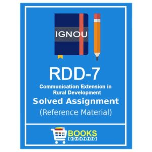 IGNOU RDD 7 Solved Assignment (PGDRD)